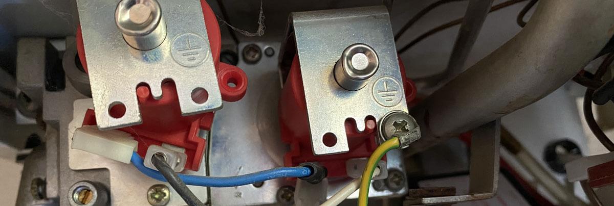 Boiler Wire Repair Close Up