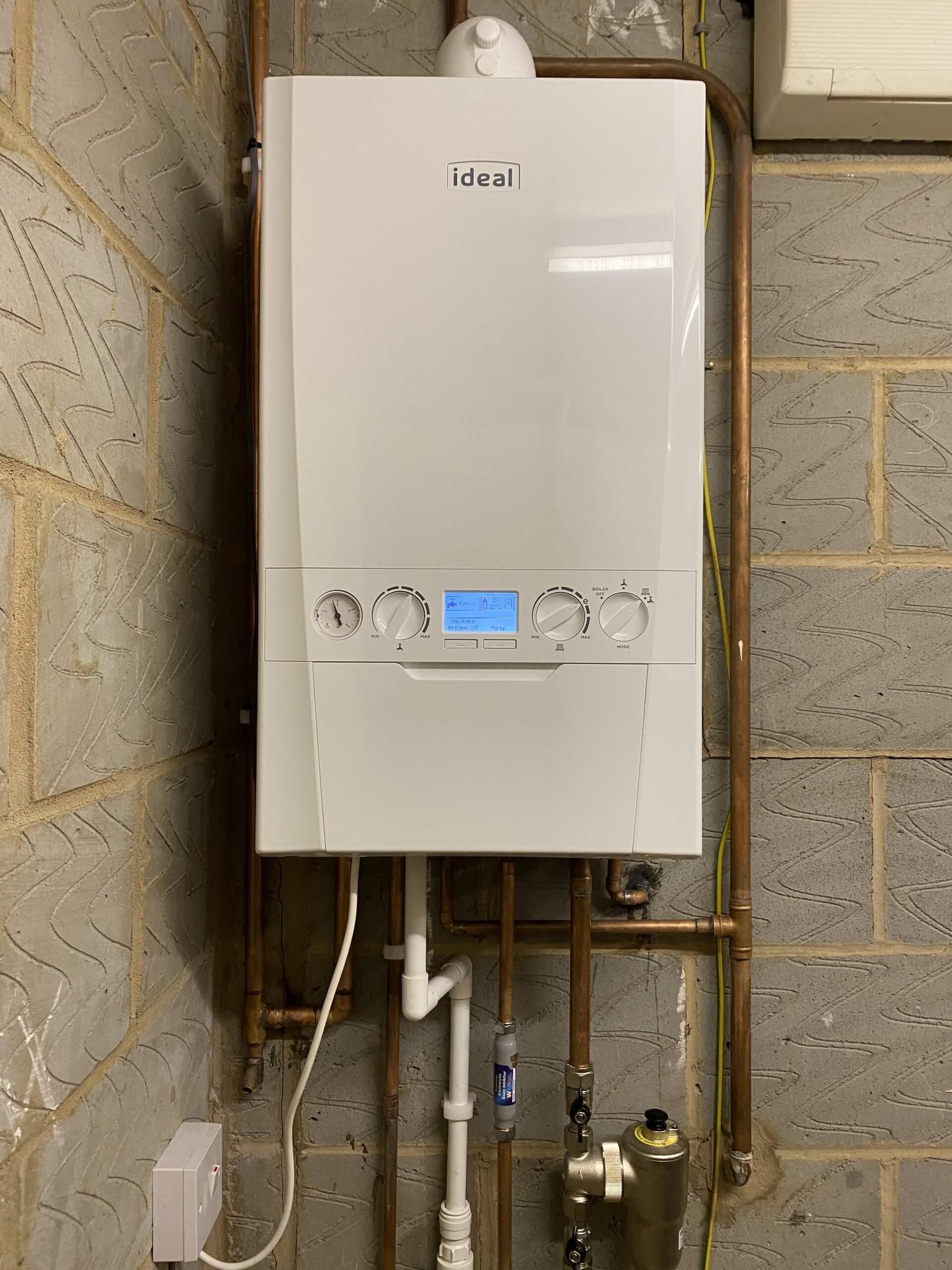 Boiler Installed in Garage